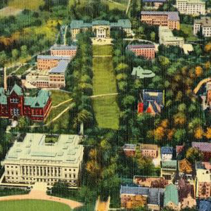 Aeroplane view of U。大学 的 Wisconsin - Madison
